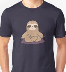 Kawaii Cute Yoga Meditating Sloth  Unisex T-Shirt