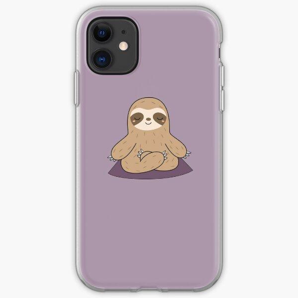 Kawaii Cute Yoga Meditating Sloth  iPhone Soft Case