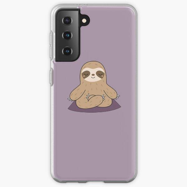 Kawaii Cute Yoga Meditating Sloth  Samsung Galaxy Soft Case