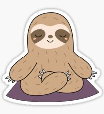 Kawaii Cute Yoga Meditating Sloth  Sticker