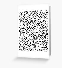 Nadia - Black and White, Animal Print, Dalmatian Spot, Spots, Dots, BW Greeting Card