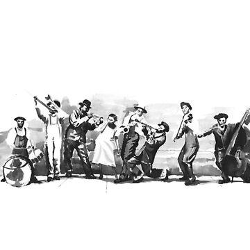 King Oliver's Creole Jazz Band by ryancallowayart