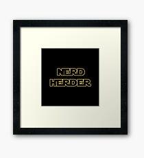 Nerd Herder Framed Print