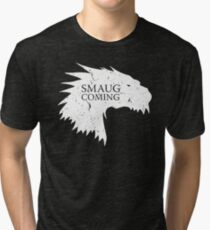 Smaug is coming Tri-blend T-Shirt