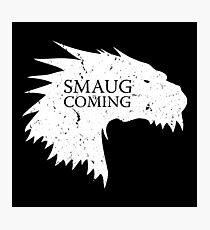 Smaug is coming Photographic Print