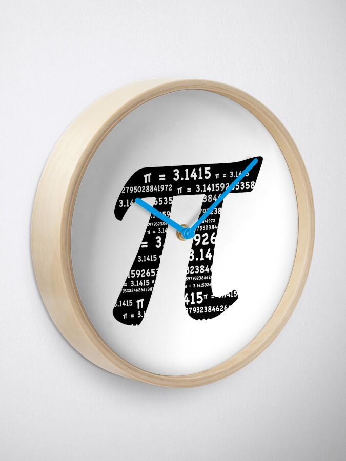 Alternate view of Pi Day Graphic Symbol Clock