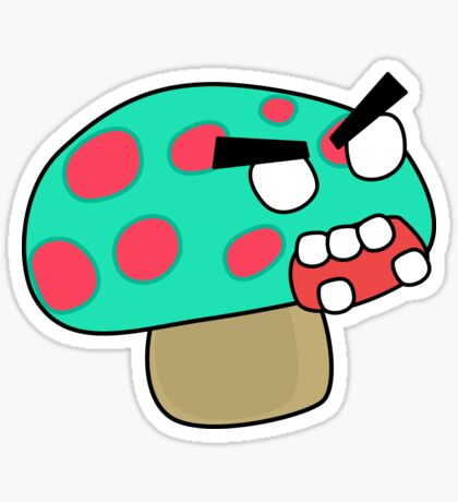 angry zombie mushroom Sticker