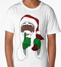 African American Santa Black Santa Clause Long T-Shirt