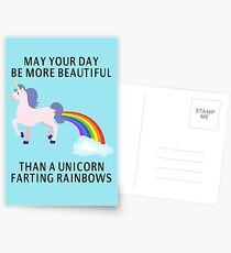 May Your Day Be More Beautiful Than A Unicorn Farting Rainbows Postcards