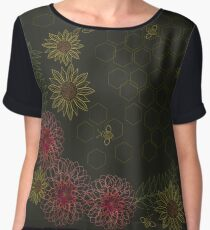 Pollinating Bees Women's Chiffon Top