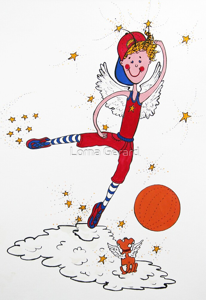 Basketball Angel by Lorna Gerard