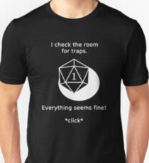 D20 Critical failure - Traps T-Shirt