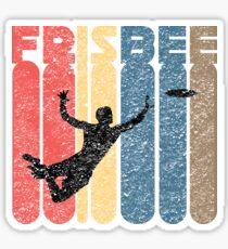 Ultimate Frisbee Vintage  | Retro Sport  Sticker