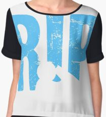 Out For A Rip - Funny Snowmobile Design Women's Chiffon Top