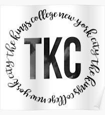 TKC - The King's College New York City Black Ink Circle Poster