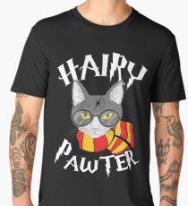 Hairy Pawter Funny Cat Parody Men's Premium T-Shirt