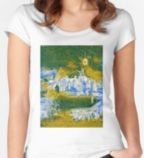 Ghostly Church  Women's Fitted Scoop T-Shirt