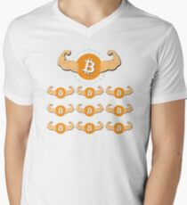 Bitcoin in numbers Men's V-Neck T-Shirt