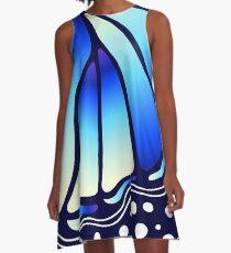 Beautiful Butterfly - Blue A-Line Dress