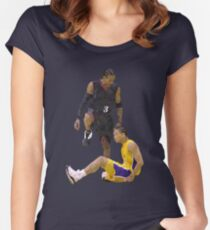 Allen Iverson Steps Over Tyronn Lue Low Poly Women's Fitted Scoop T-Shirt