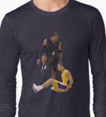 8324e4359 Allen Iverson Steps Over Tyronn Lue Low Poly Long Sleeve T-Shirt