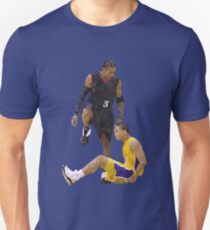 Allen Iverson Steps Over Tyronn Lue Low Poly Unisex T-Shirt