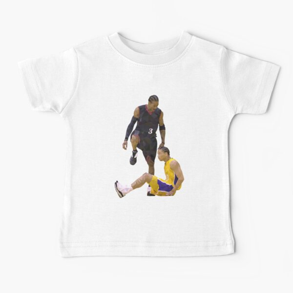 Allen Iverson Steps Over Tyronn Lue Low Poly Baby T-Shirt