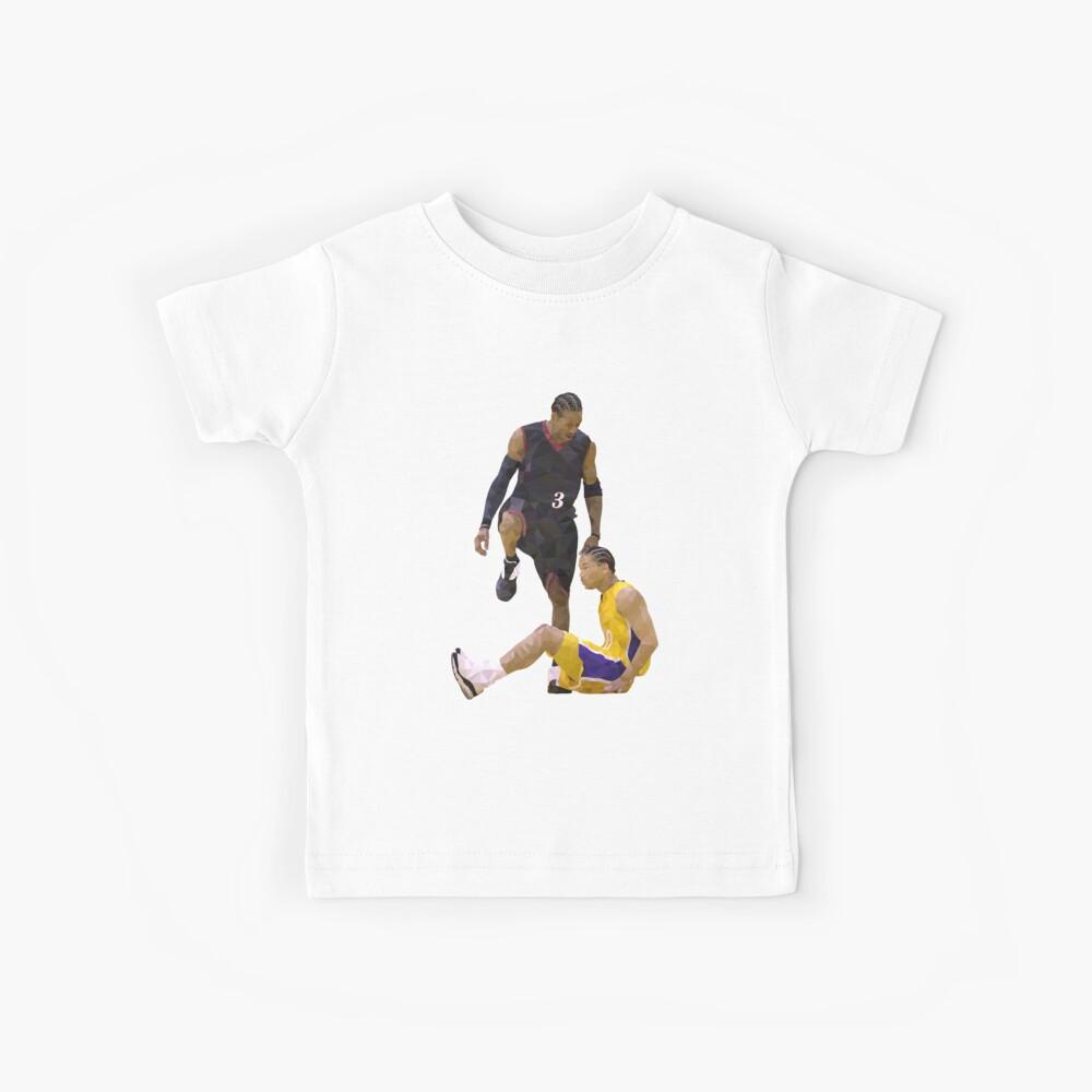 Allen Iverson Steps Over Tyronn Lue Low Poly Kids T-Shirt