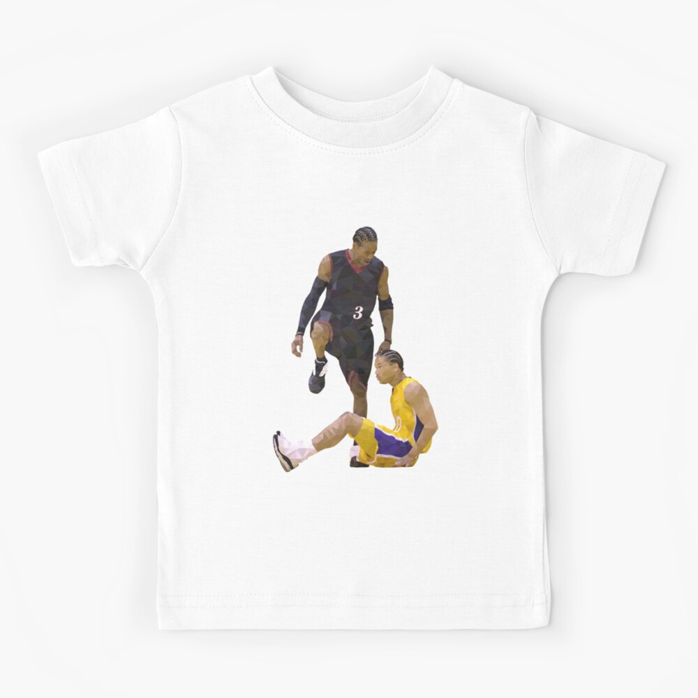 Allen Iverson Steps Over Tyronn Lue Low Poly Kids T-Shirt
