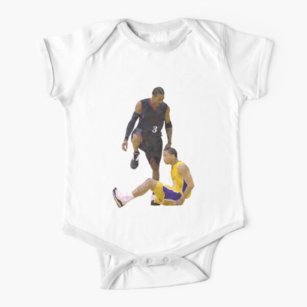 Allen Iverson Steps Over Tyronn Lue Low Poly Short Sleeve Baby One-Piece