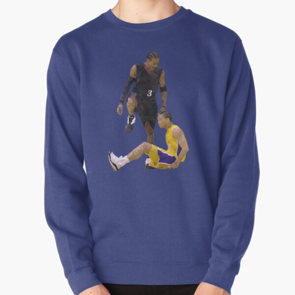 Allen Iverson Steps Over Tyronn Lue Low Poly Pullover Sweatshirt