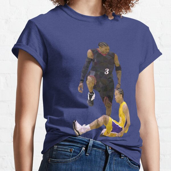 Allen Iverson Steps Over Tyronn Lue Low Poly Classic T-Shirt