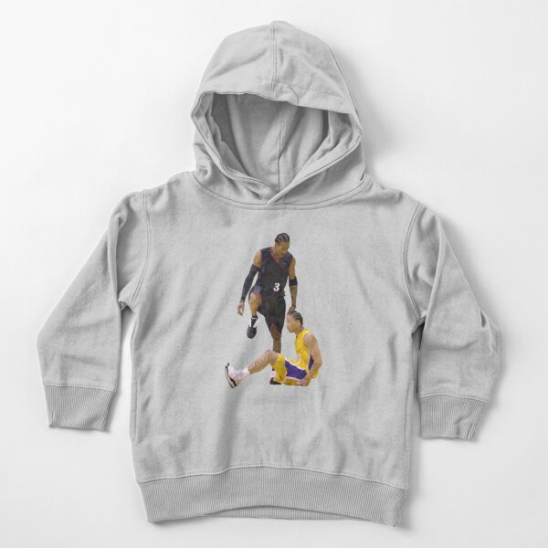 Allen Iverson Steps Over Tyronn Lue Low Poly Toddler Pullover Hoodie