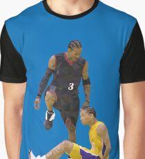 Allen Iverson tritt über Tyronn Lue Low Poly Grafik T-Shirt