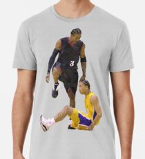 Allen Iverson tritt über Tyronn Lue Low Poly Premium T-Shirt