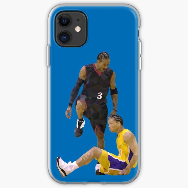 Allen Iverson Steps Over Tyronn Lue Low Poly iPhone Soft Case