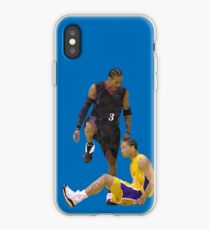 Allen Iverson Steps Over Tyronn Lue Low Poly iPhone Case