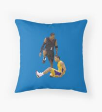 Allen Iverson Steps Over Tyronn Lue Low Poly Throw Pillow