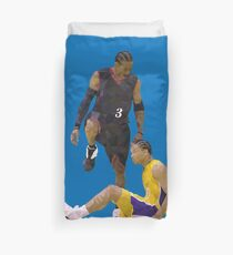 Allen Iverson Steps Over Tyronn Lue Low Poly Duvet Cover