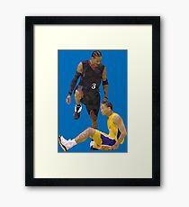 Allen Iverson Steps Over Tyronn Lue Low Poly Framed Print