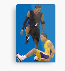 Allen Iverson Steps Over Tyronn Lue Low Poly Metal Print