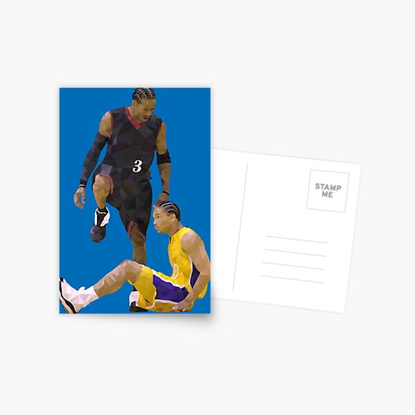Allen Iverson Steps Over Tyronn Lue Low Poly Postcard