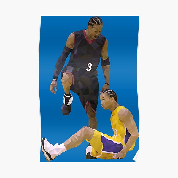 Allen Iverson Steps Over Tyronn Lue Low Poly Poster