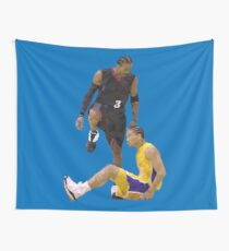 Allen Iverson Steps Over Tyronn Lue Low Poly Wall Tapestry