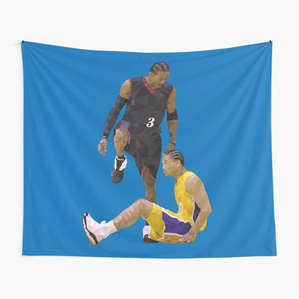 Allen Iverson Steps Over Tyronn Lue Low Poly Tapestry