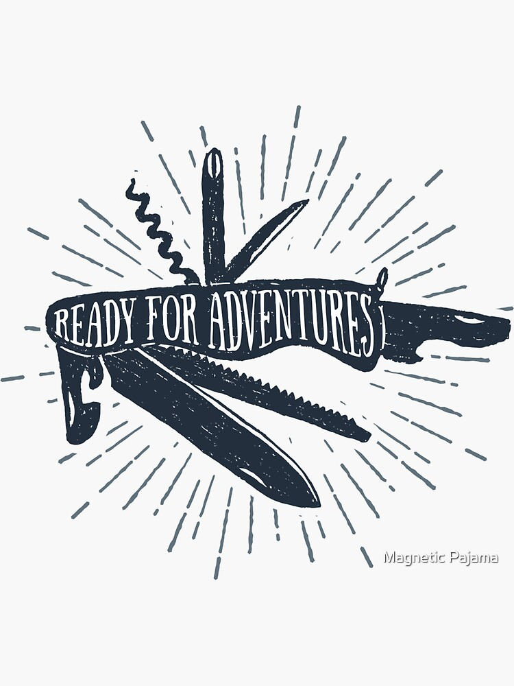 Ready for Adventures Wanderlust Pocket Knife by MagneticMama