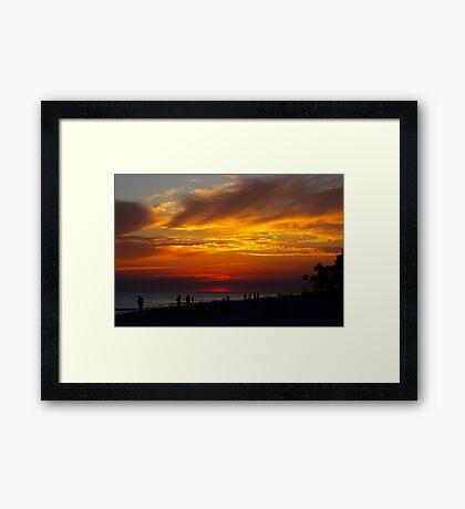 Sunset on Sanibel Island Framed Print