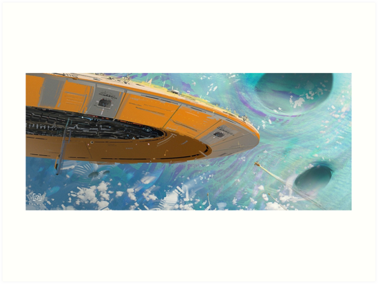 Fred Palacio - Blue Planet Odyssey by palacioart