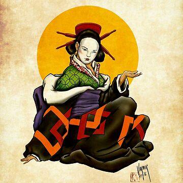 Sitting Geisha by Steve-Varner