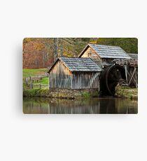 Autumn Mabry Mill Canvas Print